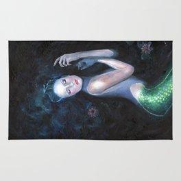 Lady of the Deep Mermaid Oil Painting Rug