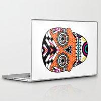 deco Laptop & iPad Skins featuring Deco Skull by Jorge Garza