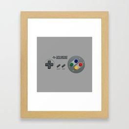 Classic Nintendo Controller Framed Art Print