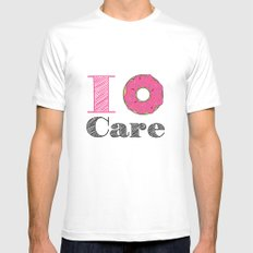i don't care Mens Fitted Tee MEDIUM White
