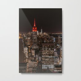 New York NY Metal Print