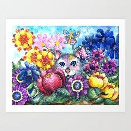 Camouflaged Art Print