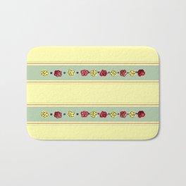 A Rosey Outlook Yellow Bath Mat