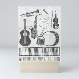 Weapons Of Mass Creation - Music (on paper) Mini Art Print
