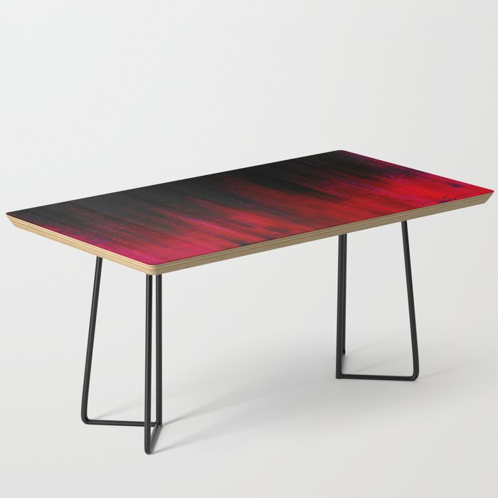 Red and Black Abstract Coffee Table