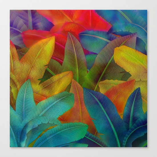Exotic Leaf Pattern Canvas Print