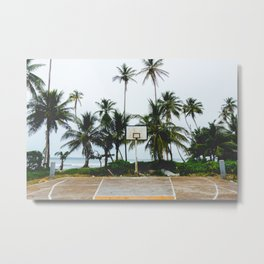 Basketball on Isla Bastimento, Bocas del Toro, Panama Metal Print