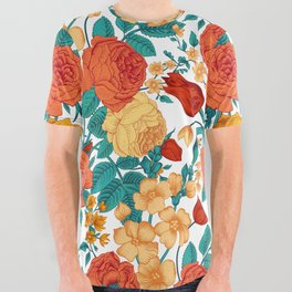 Vintage flower garden All Over Graphic Tee
