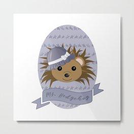 Ms. Hedgehog Metal Print