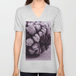 BlackBerries and Lilac 04 Unisex V-Neck
