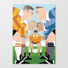 Rugby Scrum for Handsome Devil Press Canvas Print