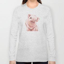 Pink Baby Pig Long Sleeve T-shirt