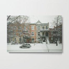 Montréal Winter Plateau Canadian Snow Metal Print