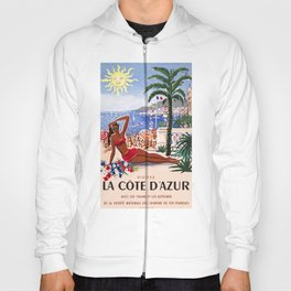 1955 FRANCE Cote D'Azur French Riviera Poster Hoody
