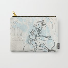 surfer skeleton hand drow on wave Carry-All Pouch