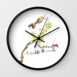 Legging It Wall Clock