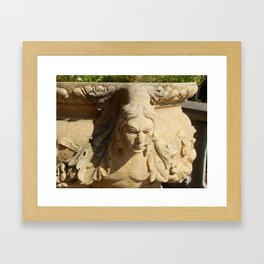 Garden furniture and small architectural forms Framed Art Print