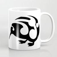 kiwi Mugs featuring Kiwi by mailboxdisco