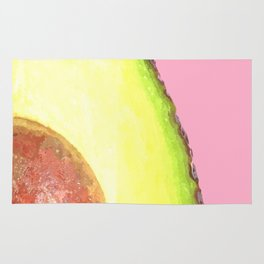 Avocado Pink Background Rug