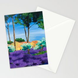Among the Lavender Stationery Cards