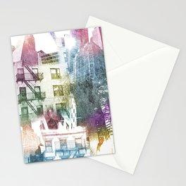 N.Y. collage color burst Stationery Cards