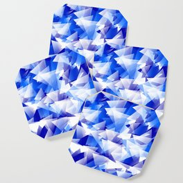 triangles in shades of blue Coaster
