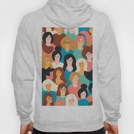 CUTE ALL-OVER WOMENS MARCH PATTERN Hoody