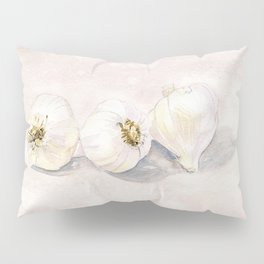 Garlic Watercolor Pillow Sham