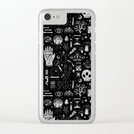 Curiosities: Bone Black Clear iPhone Case