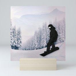 Snowboarding Mini Art Print