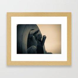 Breaking free; unleashed Framed Art Print