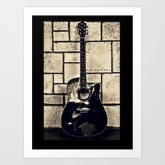 Be Your Song and Rock On in Black Art Print