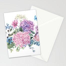 Summer Vintage Hydrangea Stationery Cards