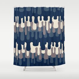 Funny Liquid Abstract Colorful Pattern 006 Shower Curtain