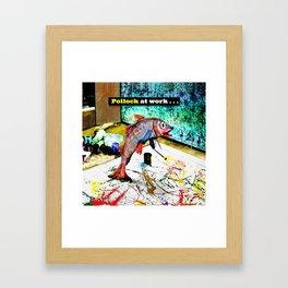 Pollock at Work Framed Art Print