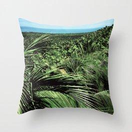 Nature palm design Throw Pillow