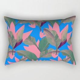 Retro Luxe Lilies Electric Blue Pattern Rectangular Pillow