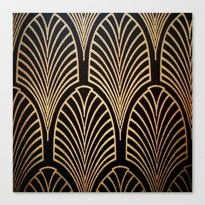 Art nouveau Black,bronze,gold,art deco,vintage,elegant,chic,belle époque Leinwanddruck
