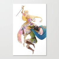 hyrule Canvas Prints featuring Hyrule Warriors by TwilightSaphir