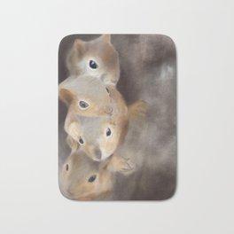 We're all a little squirrelly - woodland series Bath Mat