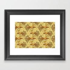 Steampunk Squid Transport Framed Art Print