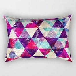 "Retro Geometrical Abstract Design ""Josephine"" inspired Rectangular Pillow"