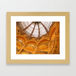 Galeries Lafayette Stained Glass Dome Framed Art Print