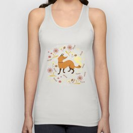 Cute as a Fox Unisex Tank Top