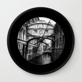 Ponte dei Sospiri   Bridge of Sighs - Venice  Wall Clock