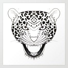 Panthera pardus Art Print