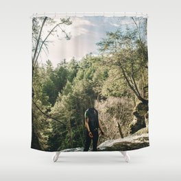 Mirrored Ghost Shower Curtain