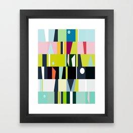 mid century abstract Framed Art Print