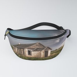 Pioneer - Abandoned Settlement Under Storm On Colorado Plains Fanny Pack