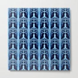 Modrý ledový strom Metal Print